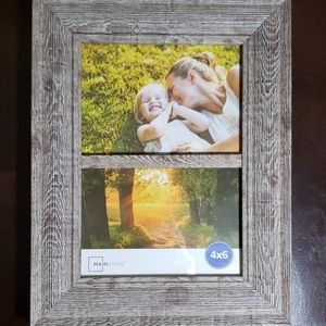 Faux wood frame